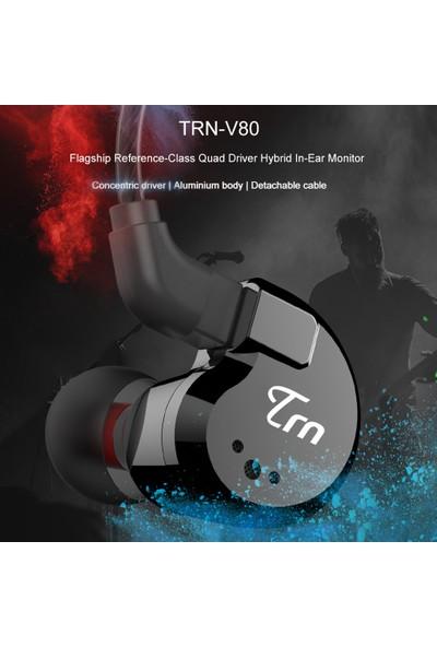 Trn V80 3.5 mm İçi 2dd + 2ba Hibrid Kulaklık (Yurt Dışından)