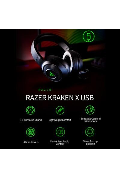 Razer Kraken X-Usb Oyun 7.1 Surround Kulaklık (Yurt Dışından)