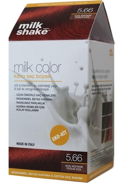 Milk_shake Milk Color Eko-Kit Saç Boyası Açık Kestane Yoğun Kızıl 5.66