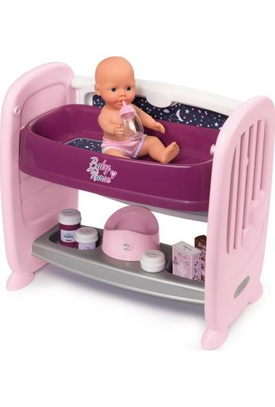 Smoby Baby Nurse 2'si1 Arada Beşikli Bakım Seti 220353