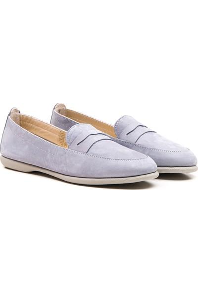 Wave Kadın Babet Ayakkabı Çelik Mavi 9031