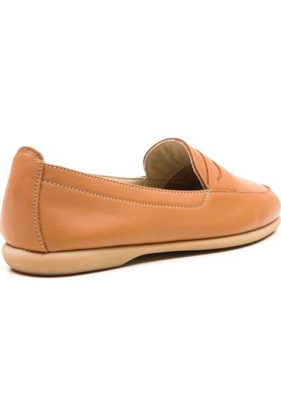 Wave Kadın Babet Ayakkabı Taba 9031
