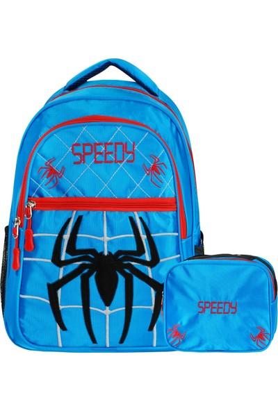 Adalinhome Üç Bölmeli Beslenmeli Ilkokul Sırt Çantası Örümcek