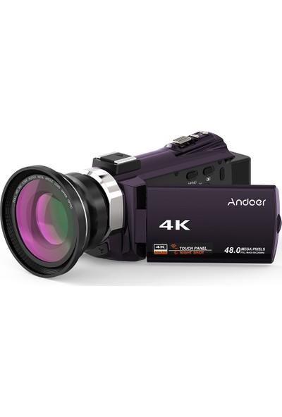 Andoer 4K 1080P 48MP Wifi Dijital Video Kamera (Yurt Dışından)