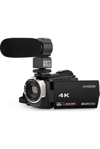 Andoer 4K 1080P 48MP Harici Mikrofon ile Wifi Dijital (Yurt Dışından)