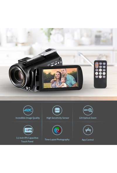 Andoer Ac5 4K UHD 24MP Dijital Video Kamera (Yurt Dışından)