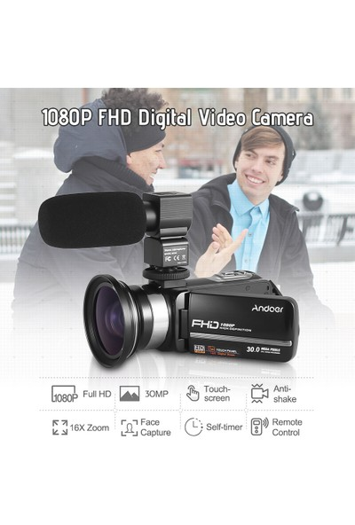 Andoer HDV-301LTRM 1080P FHD Dijital Video Kamera (Yurt Dışından)