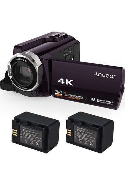 Andoer HDV-534K ile 4K 48MP Wifi Dijital Video Kamera (Yurt Dışından)