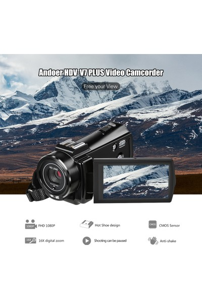 Andoer HDv-V7 Artı 1080P Full HD 24MP Taşınabilir (Yurt Dışından)