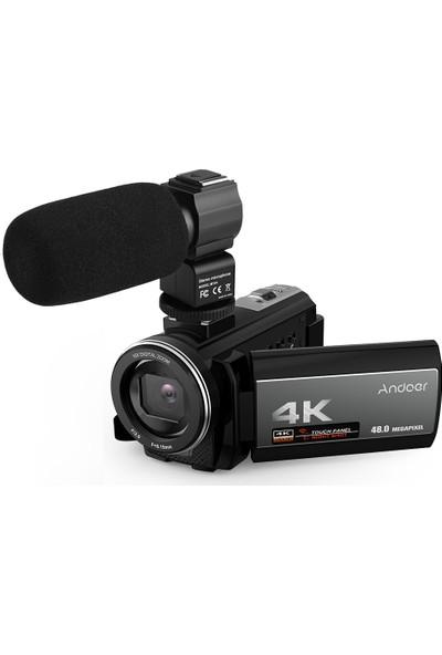 Andoer 4K Dijital Video Kamera Ultra HD 48MP (Yurt Dışından)