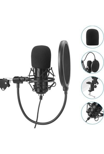 Buyfun USB 192 Khz / 24BIT Podcast Kayıt Mikrofon Kiti Profesyonel (Yurt Dışından)