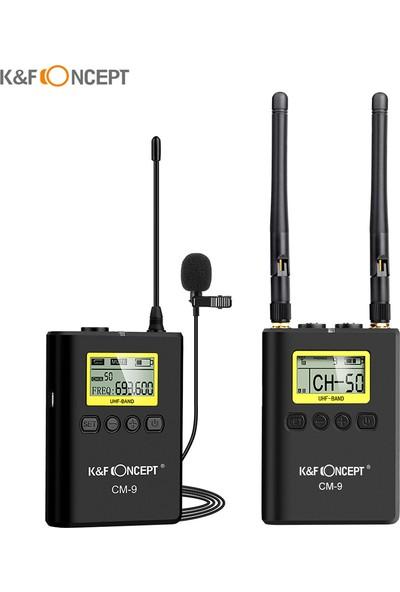 K&F Concept Kavramı Profesyonel Kablosuz Yaka Mikrofon (Yurt Dışından)