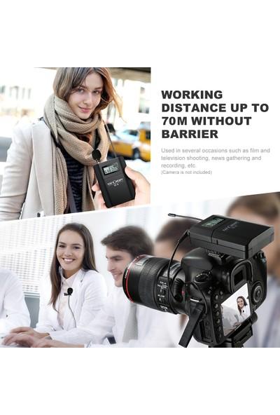 K&f Concept Kavramı M-8 Uhf Kablosuz Yaka Mikrofonu Sistemi (Yurt Dışından)