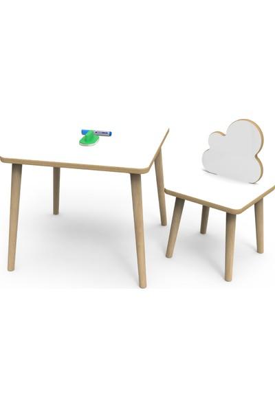 TreeDi Art Yaz Sil Yüzeyli Bulut Çocuk Masa Sandalye Takımı