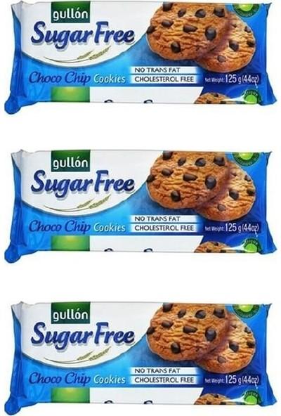 Gullon Damla Çikolatalı Şekersiz Bisküvi 3'lü 125 gr