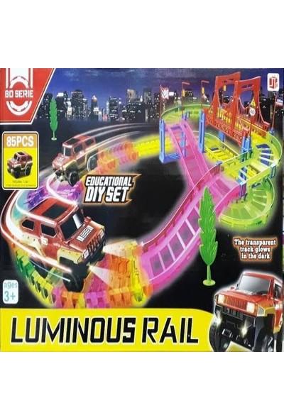 BD Serie Işıklı Arabalı Yol Seti 85 Parça