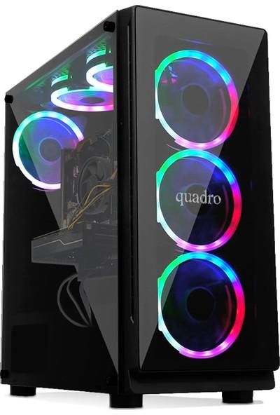 Quadro Battle RX5-N 35985 AMD Ryzen 5 3500X 8GB 512GB SSD GTX1650 Freedos Masaüstü Bilgisayar