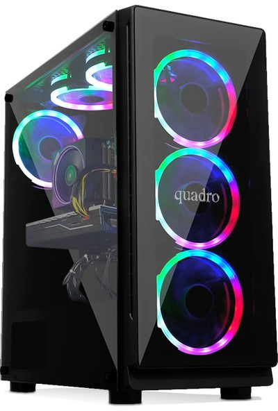 Quadro Battle IX3-N 91982 Intel Core i3 9100F 8GB 256GB SSD GTX1650 Freedos Masaüstü Bilgisayar
