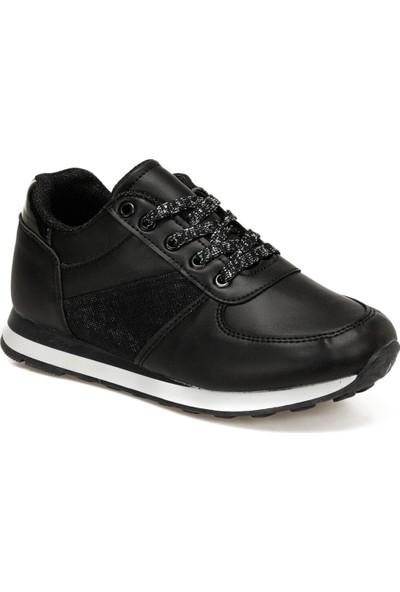 I Cool Outlet Black Flt Siyah Kız Çocuk Sneaker Ayakkabı
