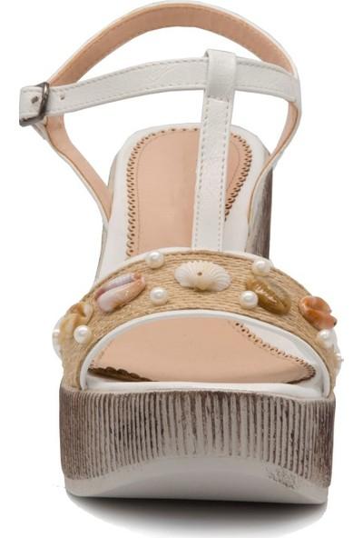 Gedikpaşalı Kadın Sms 2613 Bej Terlik Sandalet
