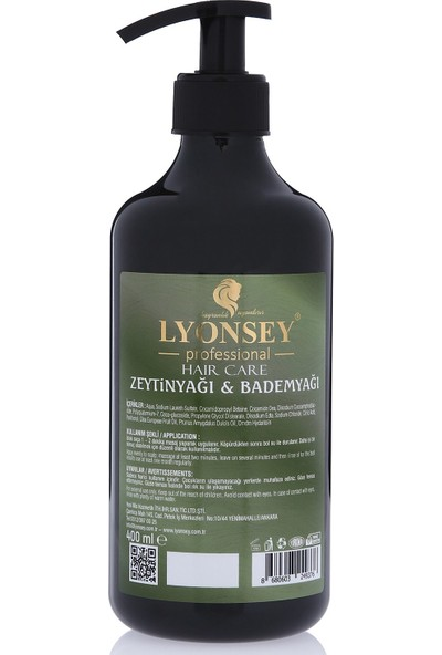 Lyonsey Zeytinyağı&bademyağı Özlü Şampuan + Keratin Komplex Saç Maskesi 500 ml