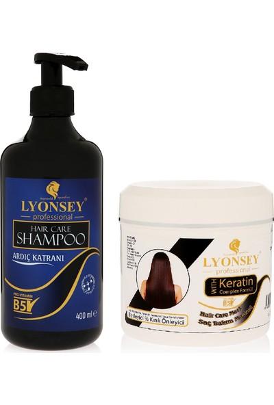Lyonsey Ardıç Katranı Şampuanı 400 ml + Keratin Komplex Saç Bakım Maskesi 500 ml