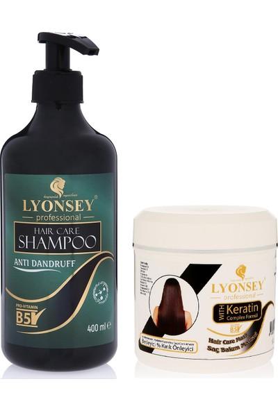 Lyonsey Kepek Karşıtı Şampuan 400 ml + Keratin Komplex Saç Maskesi 500 ml
