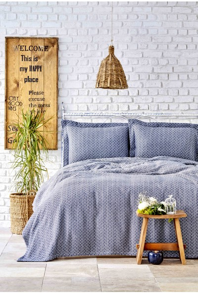 Karaca Home Stella Indigo Çift Kişilik Yatak Örtüsü Seti