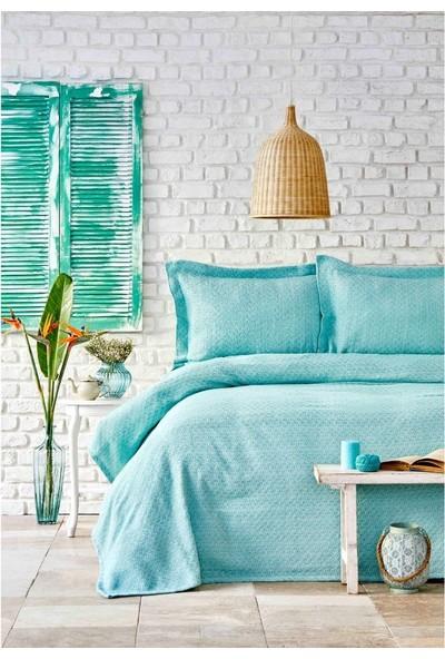 Karaca Home Stella Mint Yeşili Çift Kişilik Yatak Örtüsü Seti
