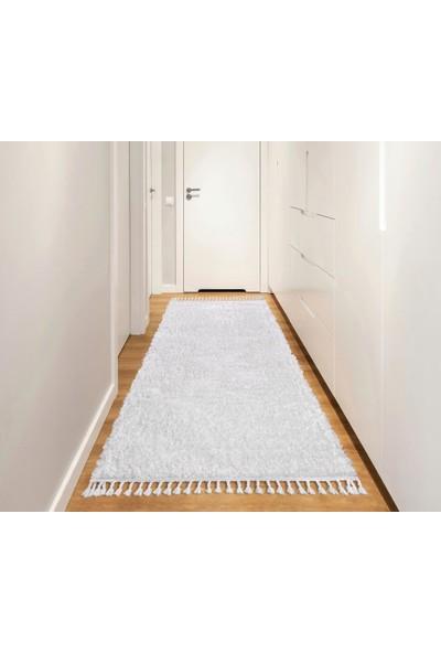 Kuga Beyaz Post Dokuma Yolluk Halı 80 x 150 cm