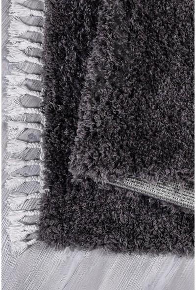 Kuga Füme Koyu Gri Post Dokuma Yolluk Halı 80 x 150 cm
