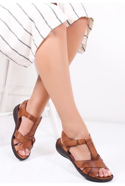 Deripabuc Hakiki Deri TABA Kadın Sandalet DC-0111