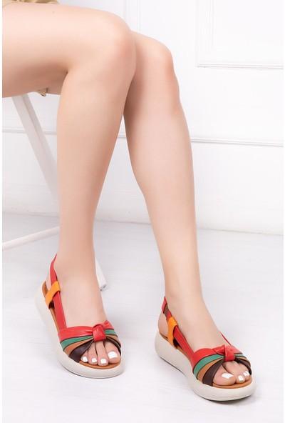 Deripabuc Hakiki Deri MULTİ-2 Kadın Sandalet DP-1841