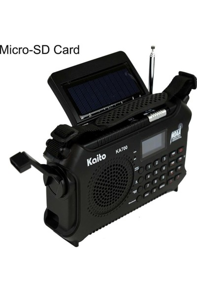 Kaito KA700 Güneş Enerjili Bluetooth Mp3 Çalar Radyo