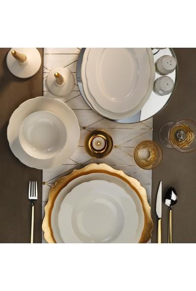 Kütahya Porselen Olympos Sade 53 Parça 12 Kişilik Yemek Takımı