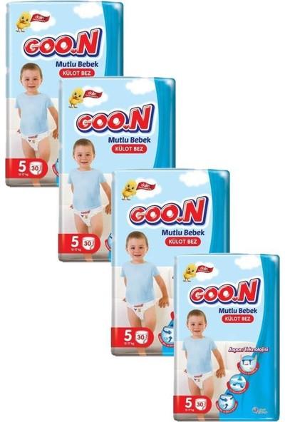 Goon Mutlu Bebek Külot Bezi 5 Beden 30'lu 4 Paket