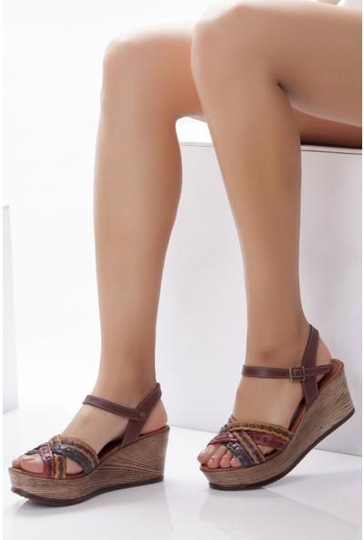 Deripabuc Modd Hakiki Deri MULTİ-1 Kadın Sandalet DP55-1258