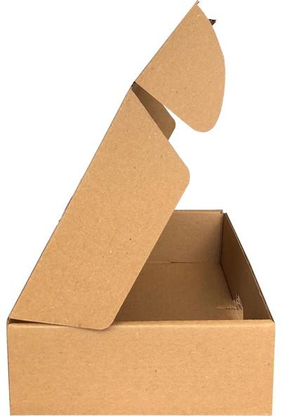 Dereli Matbaa Kraft E-Ticaret Kargo Posta Kutusu 19 x 19 x 5 cm 25'li