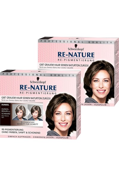 Schwarzkopf Re Nature Erkek Saç Beyazlarını Düzenleyici Pigmentan Dark x 2 Adet