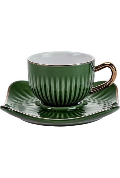Emsan Nasip 6lı Yeşil Kahve Fincan Takımı