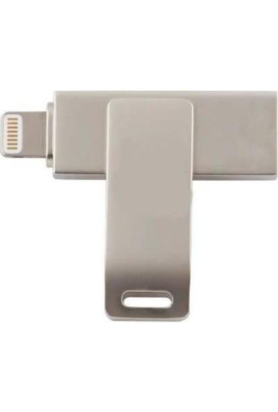 Powerway 32GB Iphone Otg Metal Flash Bellek Usb2.0
