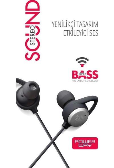 Powerway Xm-07 Kulak Içi Mikrofonlu Süper Bass Kulaklık Siyah
