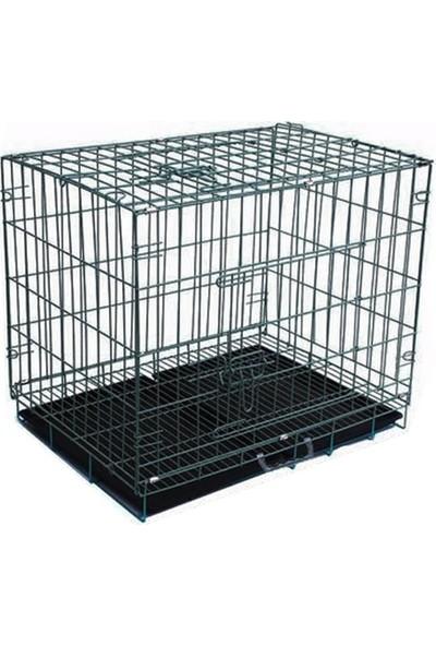 Metal Köpek Kafesi 60 x 42 x 51 cm Medium Siyah