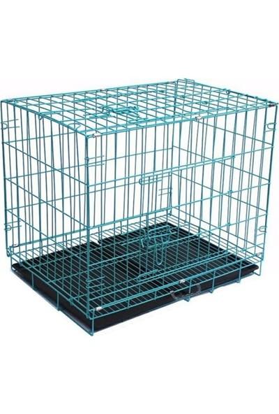Metal Köpek Kafesi 92 x 56 x 66 cm Xlarge Mavi