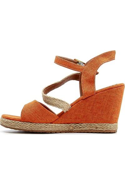 Melisa Kadın Dolgu Topuk Sandalet 20Y M118 Z