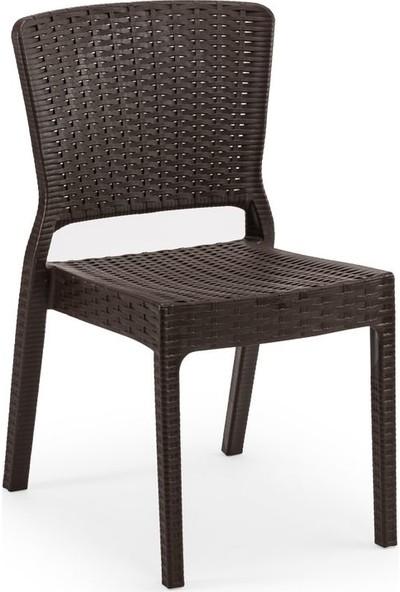Bintaş Mobilya Wenge Dış Mekan Bahçe Masa Sandalye Takımı