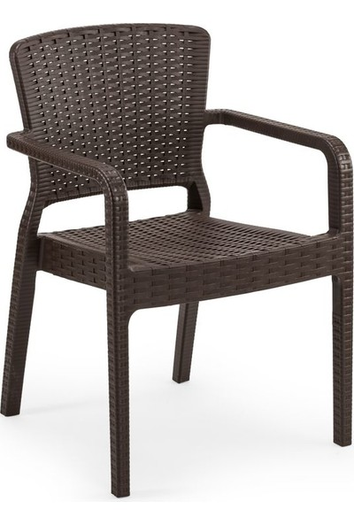 Bintaş Mobilya Rattan Plastik Venge Dış Mekan Bahçe Masa Sandalye Takımı