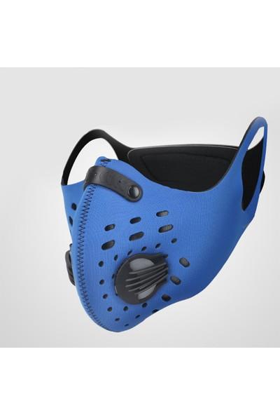 Xintown Bisiklet Bandana Maskesi Rüzgar Geçirmez Toz Geçirmez Duman Geçirmez Aktif Karbon Filtreli