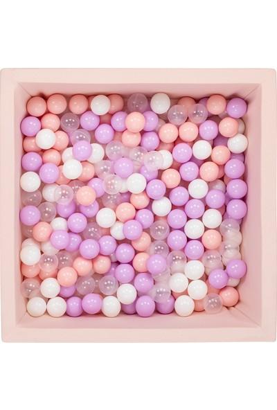 Wellgro Bubble Pop Pembe Kare Top Havuzu - Pembe + Beyaz + Şeffaf + Lila