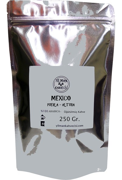 Yılman Kahvecisi Mexico Meksika Pueblo Altura %100 Arabica Filtre Kahve 250 Gram Öğütülmüş